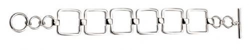 Square cut out Silver T- bar 19cm
